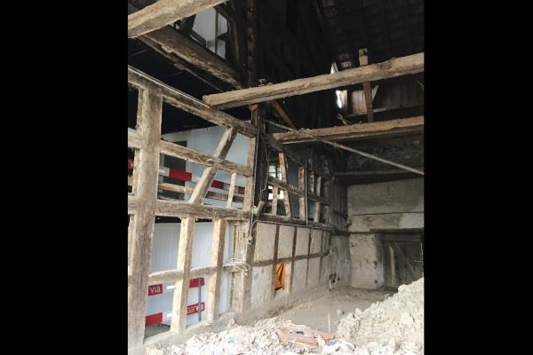 Dorfschüür Würenlingen Rückbau Trennwand Dezember 2018