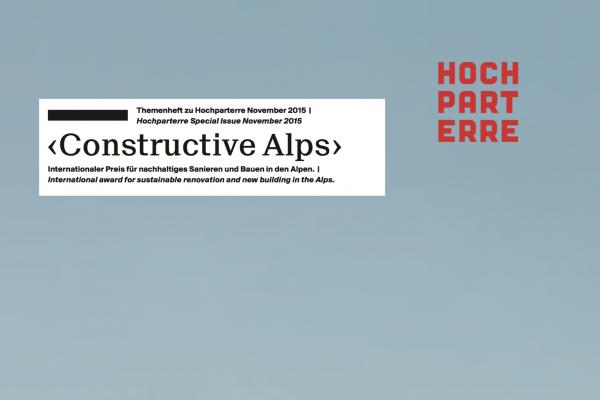 Constructive Alps - Annerkennung Stalla Madulain November 2015