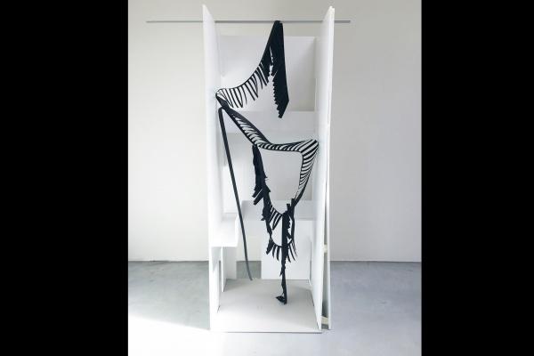 Monika Sosnowska, Modell für Skulptur Muzeum Susch November 2016